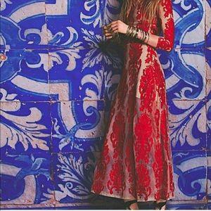 For Love + Lemons San Marcos Dress in Red S